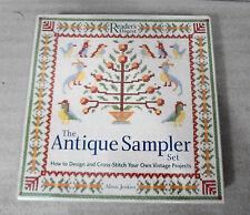 Readers Digest Antique Sampler Set Cross Stitch Alison Jenkins NEW