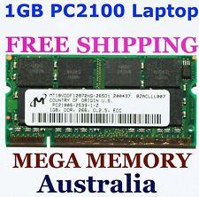 New MICRON 1GB DDR PC2100 Sodimm LAPTOP Memory Ram ECC $95