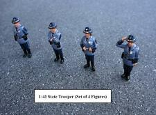 STATE TROOPERS FIGURE SET 4PC 1/43 SCALE DIECAST MODELS AMERICAN DIORAMA 16200