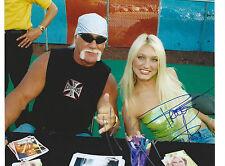WWE Hulk & Brooke HOGAN Signed 8x10 Photo