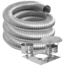 """4"""" x 25' SIMPSON DURAVENT STAINLESS CHIMNEY LINER KIT"""