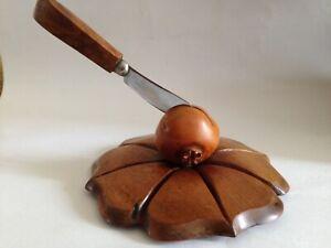 Rare Dan Karner Spanish  Wood Sculpture - Mid Century - Fruit Knife holder