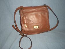 FOSSIL  Leather flap  CrossBody Messenger Bag with key Fob