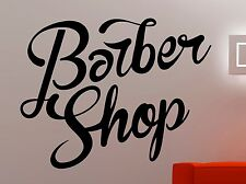 Barber Shop Logo Wall Sticker Window Vinyl Decal Hair Haircut Salon Decor 2pzz