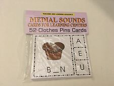 Medial Sounds - Cards for Learning Center 52 Cards- Letters Phonic Teaching