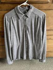 Womens Ibex Blouse Ls Size L Gray