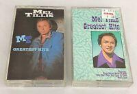 Lot of 2 MEL TILLIS Cassette Tapes ~ Greatest Hits