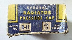 "R-11 Evrseal Radiator ""New"" Cap 1939, 40, 41, 42, 43, 44, 45, 46, 47,48 Nash"