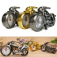 KQ_ Motorcycle Alarm Clock Timex Creative Mini Desk CollectibleHarley Time Piece