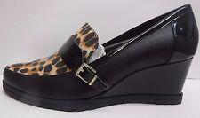 Ellen Tracy Size 8 Black Tan Wedge Heels New Womens Shoes