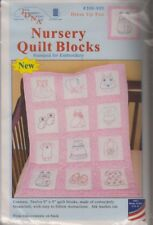 1 Jack Dempsey Dress Up Fun Stamped Embroidery Nursery Quilt Blocks