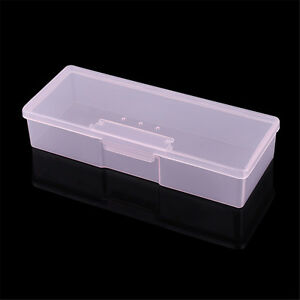 1 Plastic Small Empty Box Nail Art Gems Brush Pen Storage Case Makeup Container