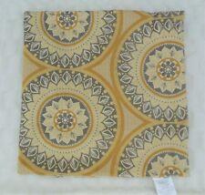 "Pier 1 Imports Square 24"" Pillow Cover Yellow Gray Mandalas NO INSERT"