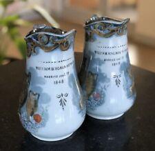More details for antique pair jugs 2 victorian vases 1840s etruscan transferware ceramic retro