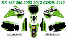 5112 KAWASAKI KX 125-250 2003-2012 03-12 DECALS STICKERS GRAPHICS KIT