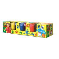 SES CREATIVE Children's Washable Finger Paints Set, Four Paint Pots
