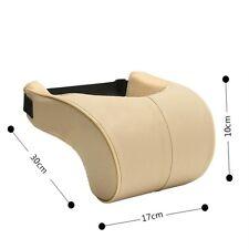 1pcs Car Seat Headrest Pad Memory Foam Pu Leather Head Neck Rest Cushion Pillow