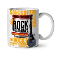 Against Rape Rock Music NEW White Tea Coffee Mug 11 oz | Wellcoda