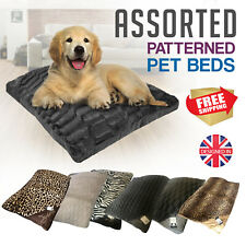 Large Luxury Assorted Dog Cat Ped Bed Cushions Soft Warm Comfy Zipped Cover