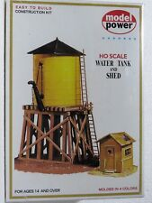 MODEL POWER #428 HO scale model kit WATER TANK AND SHED New in box