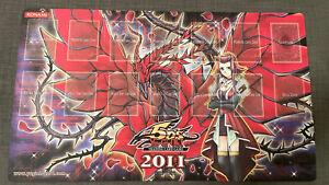 Yu-Gi-Oh! 2011 Win-A-Mat Akiza Izinski  Black Rose Dragon Sexy Official Playmat