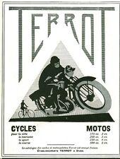 Publicité ancienne cycles motos Terrot 1929 issue de magazine
