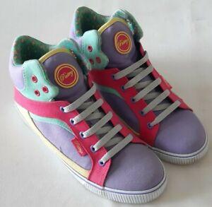 Ladies Sneaker Trainers High Top purple pink green pastel retro Y2K UK 6