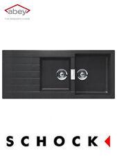 Abey Kitchen Sink Schock Series D200B Black German Engineered