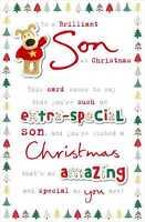 Boofle Brilliant Son Christmas Greeting Card Cute Xmas Cards