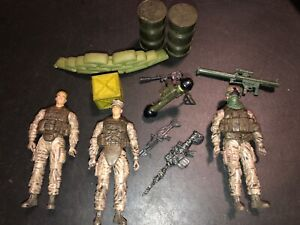 1:18 Blue Box Soldier 21st Century Toys WWII figure guns weapons Lot A6