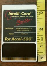 Intelli-Card Accel 500 Printer Font Card Apple Image Writer II - LQ Mac Dot 1988