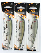 (3) BOMBER LONG A FISHING LURES - FLIP SHAD (B15A428)
