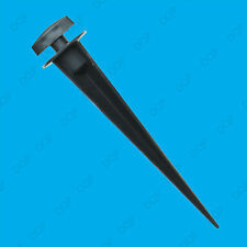 1x Black Ground Spike Mount for LED Floodlights Having Mounting Brackets to Rear