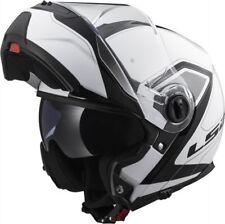LS2 Helmet Motorbike Modular Ff325 Strobe CIVIK White-black M