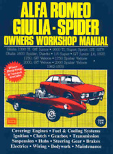 Alfa Romeo Giulia Spider 1962-1978 New Workshop Manual Service Manual Repair