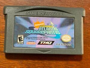 Spongebob's Atlantis Squarepants  Gameboy Advance cartridge