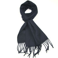 Wool Winter Scarf for Men and Women - Mens Plain Pure Wool Scarves - Lovarzi