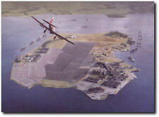 Pearl Harbor 07:55...While the Giant Slept by Dru Blair - Aviation Art Print