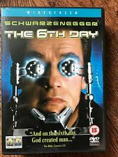 Arnold Schwarzenegger THE 6TH DAY ~ 2000 Clone Cloning Sci-Fi Action Film UK DVD