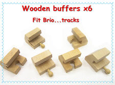 Thomas the tank engines wooden train track Stop,Buffer x 6    Fits Brio...new