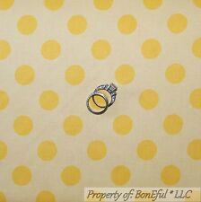 BonEful Fabric Cotton Quilt Yellow Tone POLKA DOT USA Baby Girl Boy Sale L SCRAP