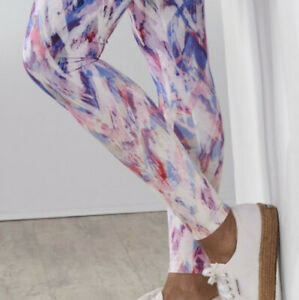 Soft Surroundings Have To Have Printed Leggings Abstract Print L Large Purple