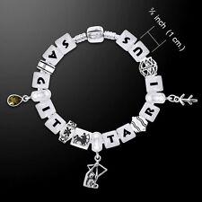 Sagittarius Astrology Zodiac .925 Sterling Silver Bead Bracelet Peter Stone