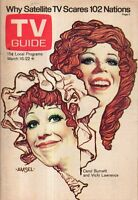 1974 TV Guide March 16 - Vicki Lawrence, Carol Burnett; Laurence Olivier;Woodhul