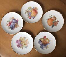 Schumann Bavaria, 5 Fruit Plates, Arzberg, Germany