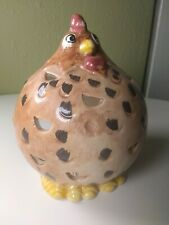 Vintage Chubby Chicken Ceramic Candle Holder Home Country Kitchen Decor