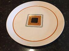 """Mid Century MIKASA DUPLEX 10 3/4"""" """" Dinner Plate BEN SEIBEL rare orange squares"""
