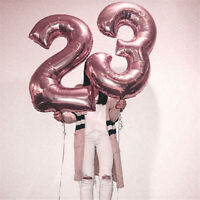 """32"""" Rose Gold Number Balloon Foil Balloons Digital Wedding Birthday Party Decor"""