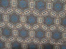 Feedsack Vintage Cotton Fabric Textile Open Full Blue Gray
