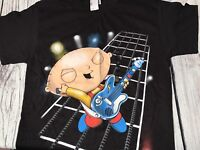 The Family Guy Shirt MENS MEDIUM LARGE Stewie T-Shirt Graphic Tee Stewy Black